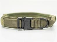 Тактический ошейник для служебных собак (хаки-олива)