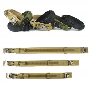 Тактический ошейник для собак с быстросъемной застежкой Cobra (черный)