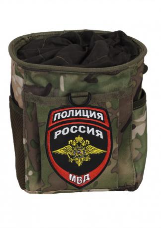 Тактический подсумок для фляги с нашивкой Полиция России