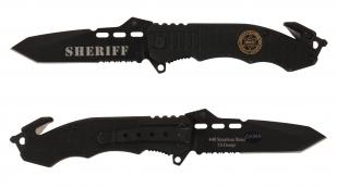 Тактический полицейский нож Sheriff Tanto Rescue Folder - заказать онлайн