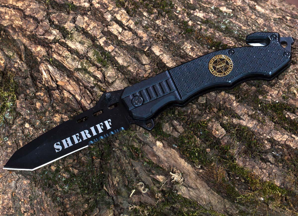 Тактический полицейский нож Sheriff Tanto Rescue Folder - купить с доставкой онлайн