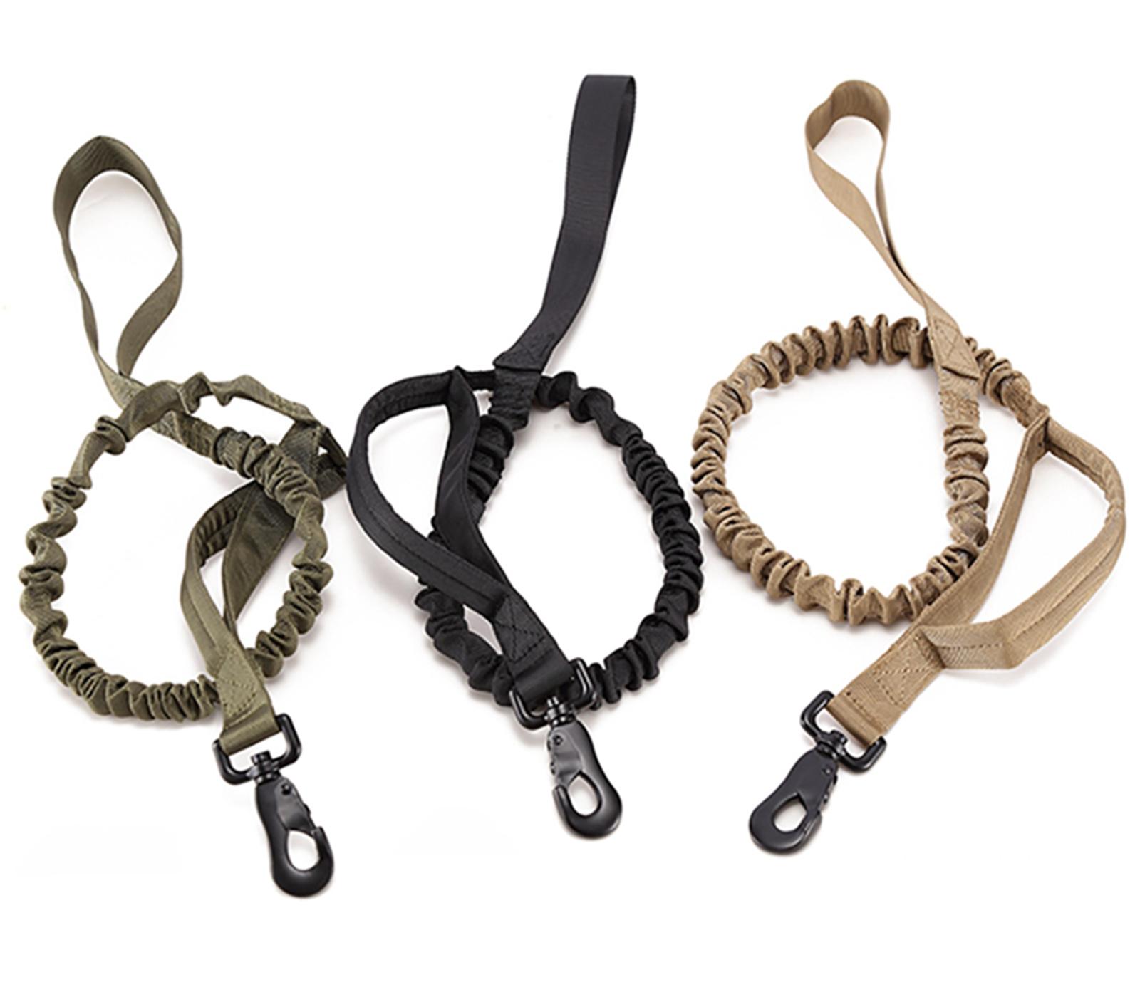 Тактический поводок для служебных собак (хаки-песок)