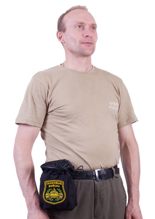 Тактический поясной чехол для фляги с нашивкой Танковые Войска - заказать в Военпро