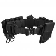 Тактический поясной ремень (бандаж) с подсумками (черный)