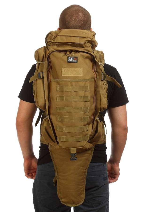 Тактический рюкзак 9.11 хаки-песок, 75 л