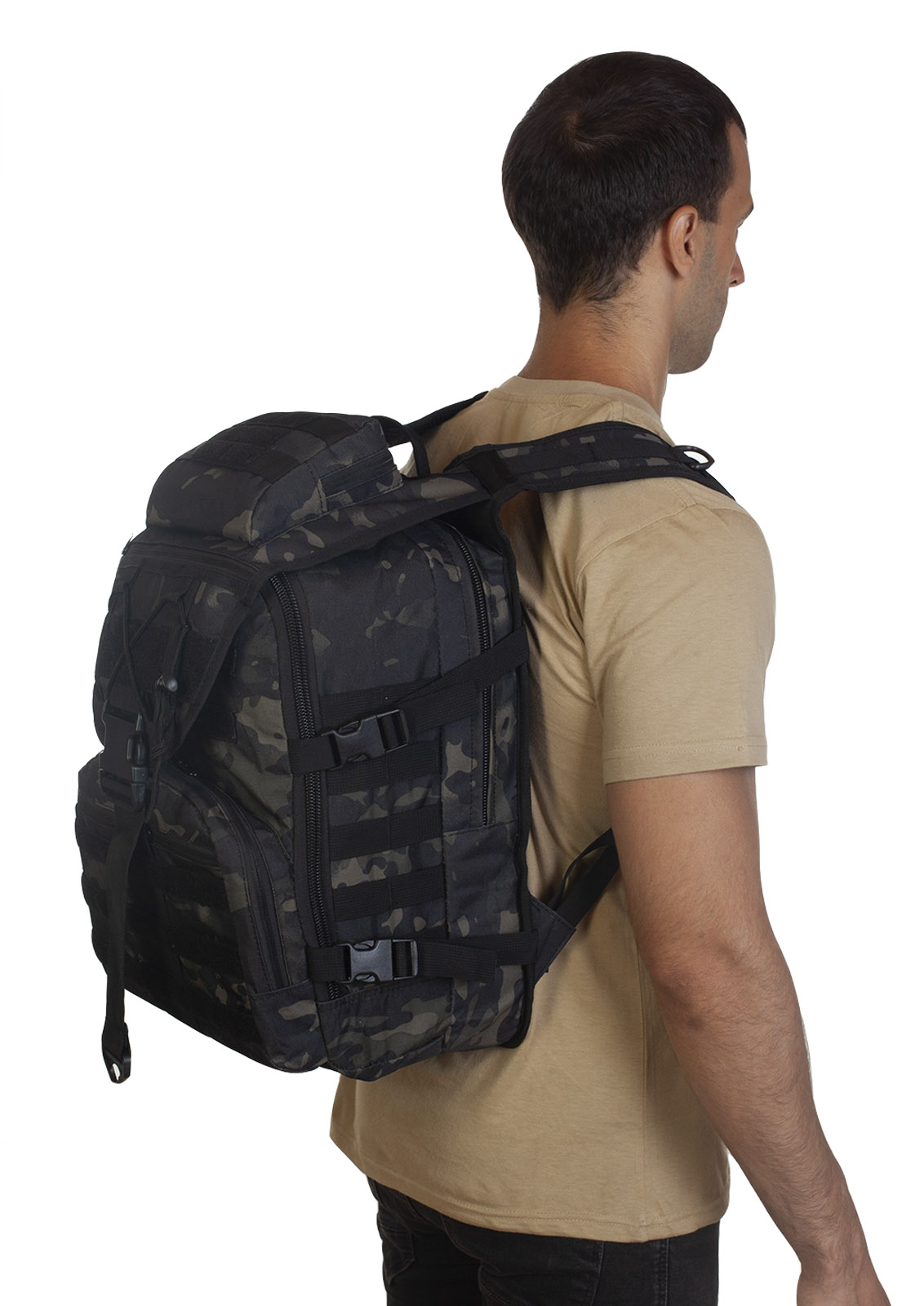 Тактический рюкзак камуфляжа Black Multicam высокого качества