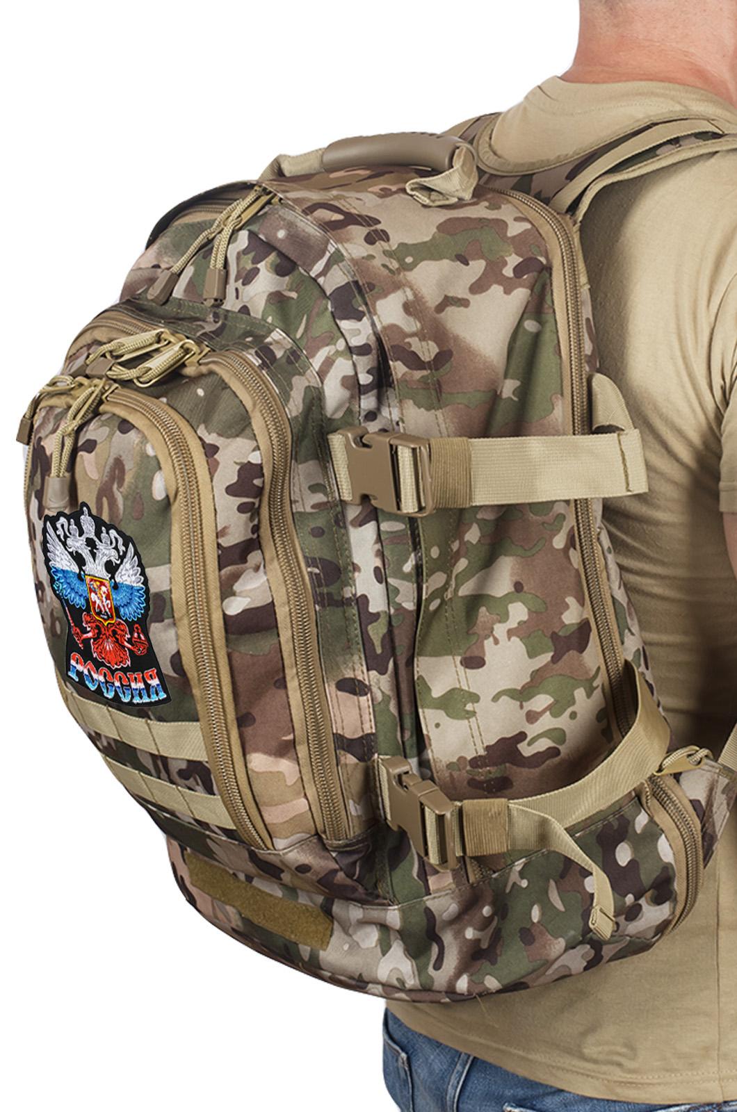 "Тактический рюкзак разведчика 3-Day Expandable Backpack 08002B Multicam с эмблемой ""Россия"""