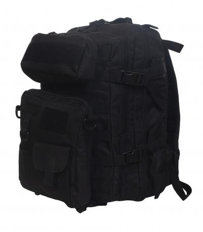 Тактический рюкзак с подсумками (30 литров, черный)