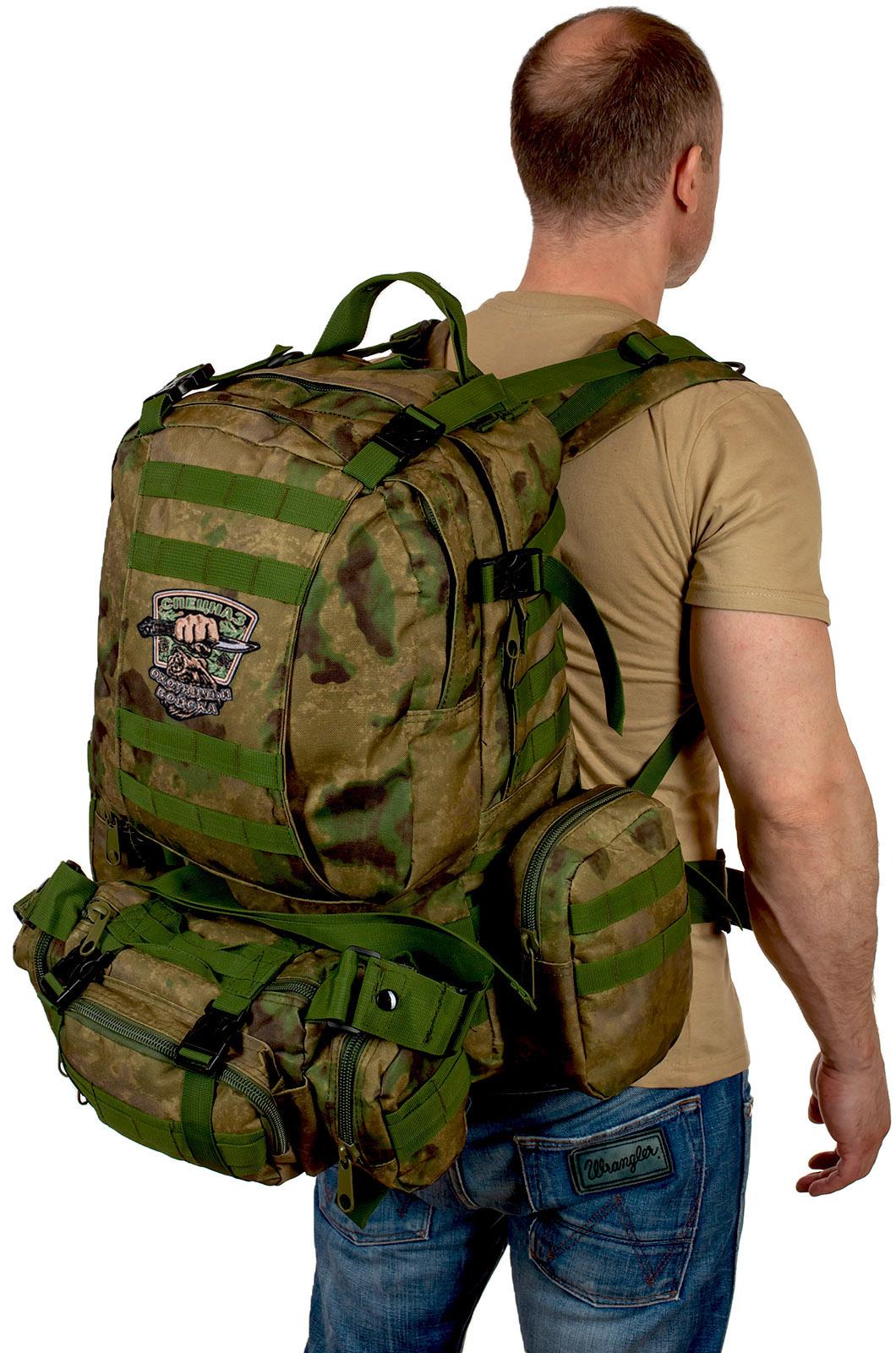 Тактический рюкзак с подсумком с нашивкой для охотников купить онлайн