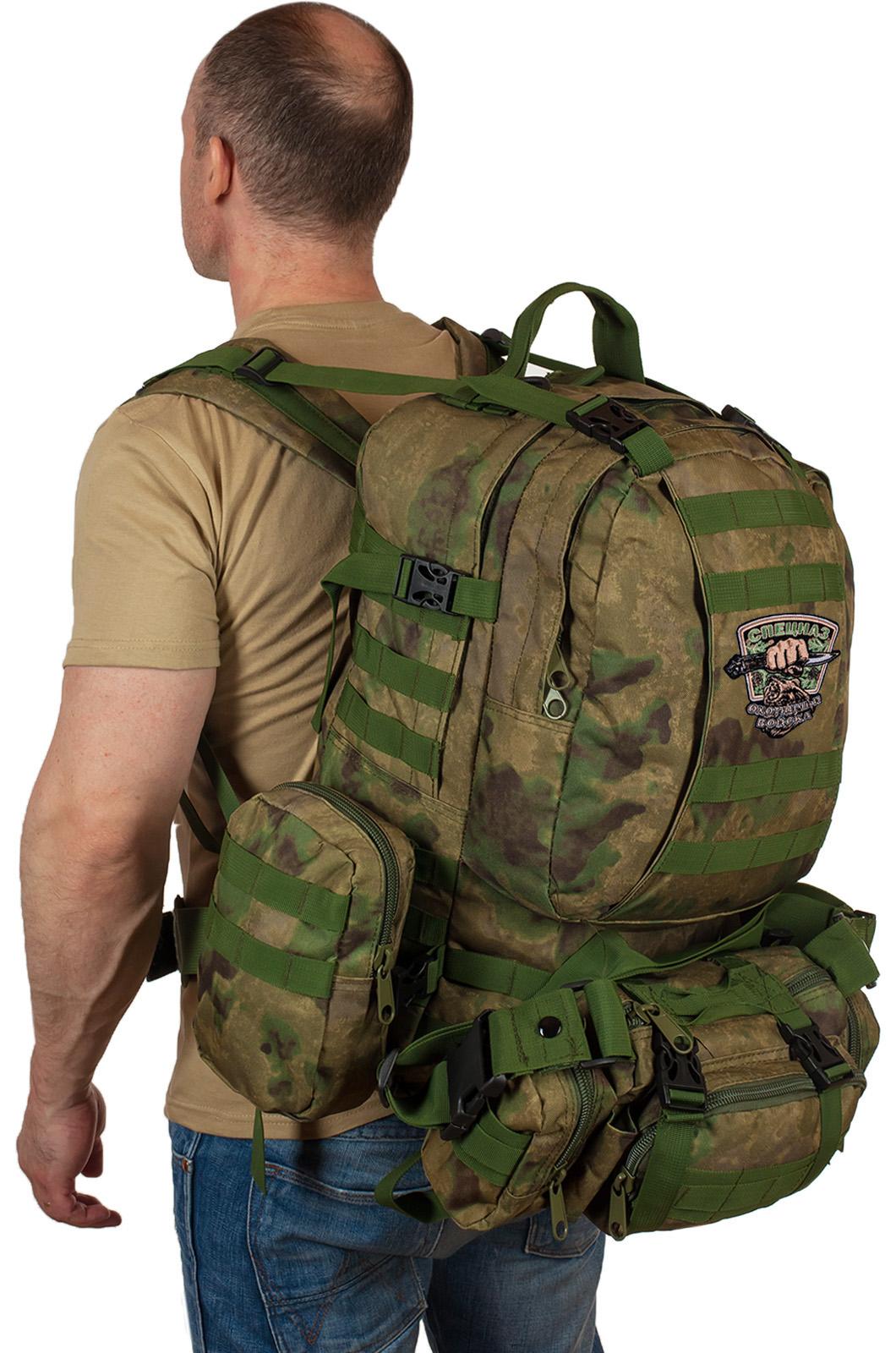 Тактический рюкзак с подсумком с нашивкой для охотников купить оптом