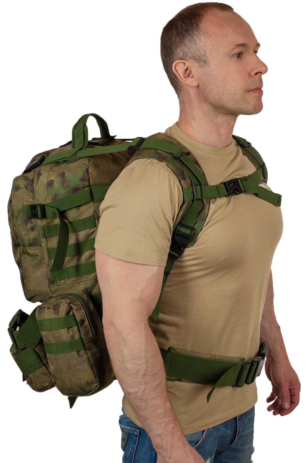 Тактический рюкзак с подсумком с нашивкой для охотников купить в подарок