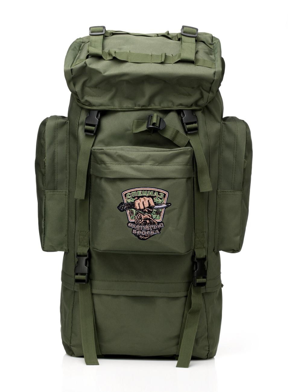 Тактический рюкзак цвета хаки с нашивкой Охотничий спецназ