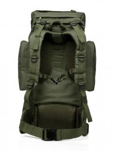 Заказать тактический рюкзак цвета хаки с нашивкой Охотничий спецназ