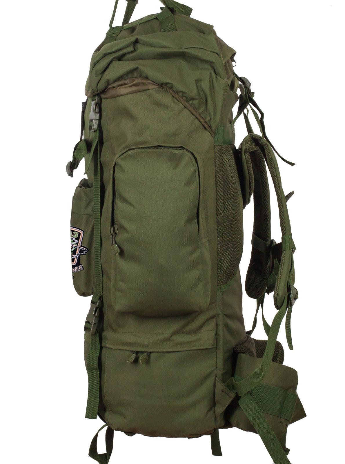 Тактический рюкзак цвета хаки с нашивкой Охотничий спецназ купить оптом