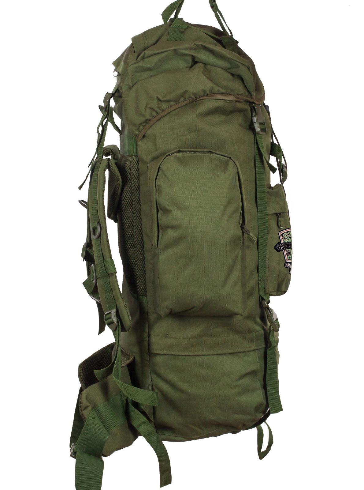 Тактический рюкзак цвета хаки с нашивкой Охотничий спецназ купить в подарок