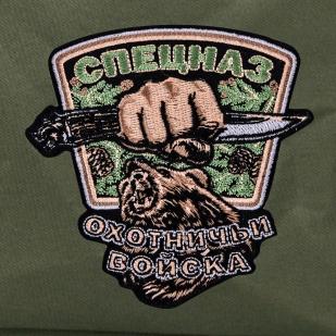 Тактический рюкзак цвета хаки с нашивкой Охотничий спецназ купить с доставкой