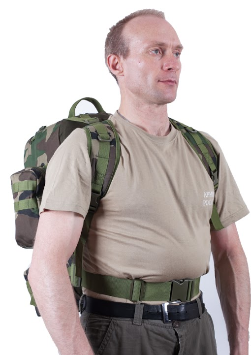 Тактический рюкзак US Assault французский камуфляж с эмблемой МВД оптом в Военпро