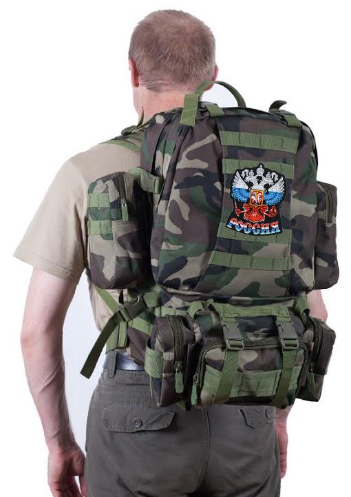 """Тактический рюкзак US Assault французский камуфляж с эмблемой """"Россия""""  оптом в Военпро"""