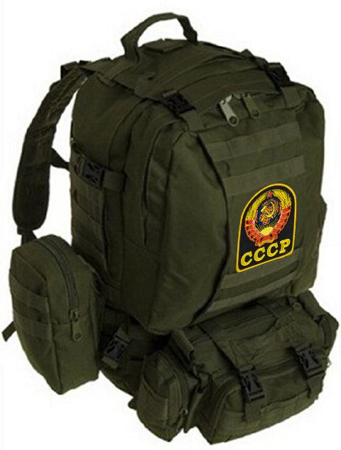 Тактический рюкзак US Assault хаки-олива с эмблемой СССР