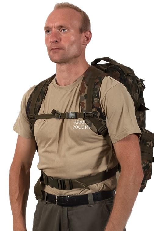 Тактический рюкзак US Assault немецкий камуфляж с эмблемой МВД оптом в Военпро