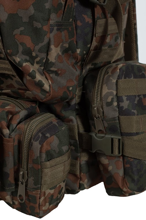 """Тактический рюкзак US Assault немецкий камуфляж с эмблемой """"Россия"""""""