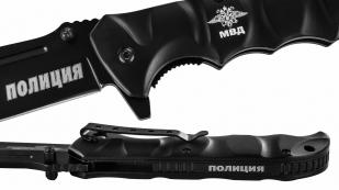 """Тактический складной нож с гравировкой """"Полиция"""" из отличной стали"""