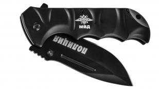 """Тактический складной нож с гравировкой """"Полиция""""."""