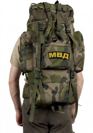 Тактический вместительный рюкзак с нашивкой МВД - купить выгодно