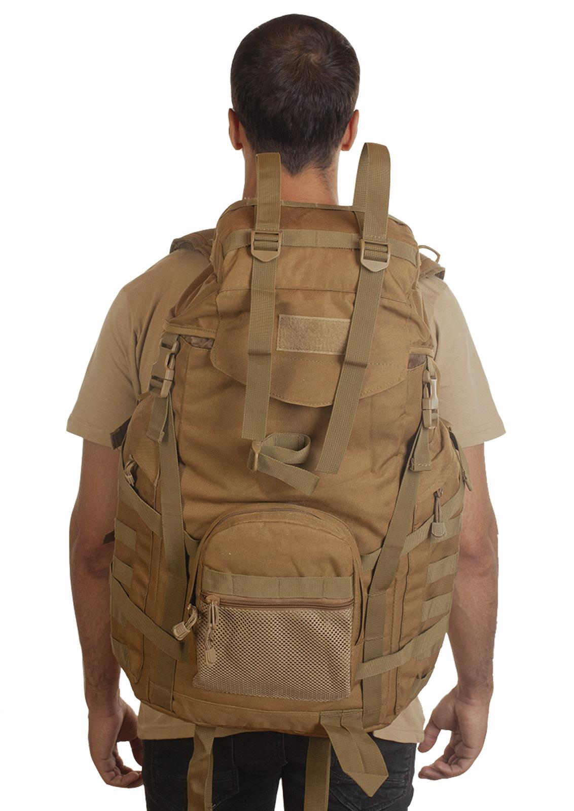 Тактический военный рюкзак (хаки-песок) - только в Военпро