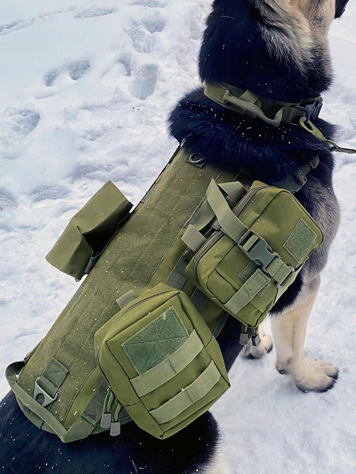 Тактический жилет для собак (хаки-олива)