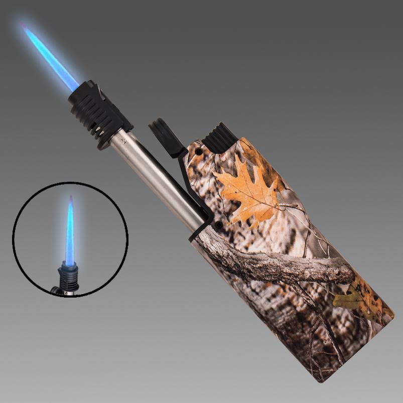 Технологичная газовая турбозажигалка в камуфляже REALTREE TIMBER.