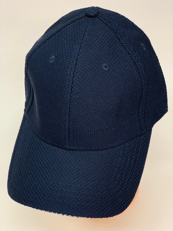 Текстурная бейсболка темно-синего цвета