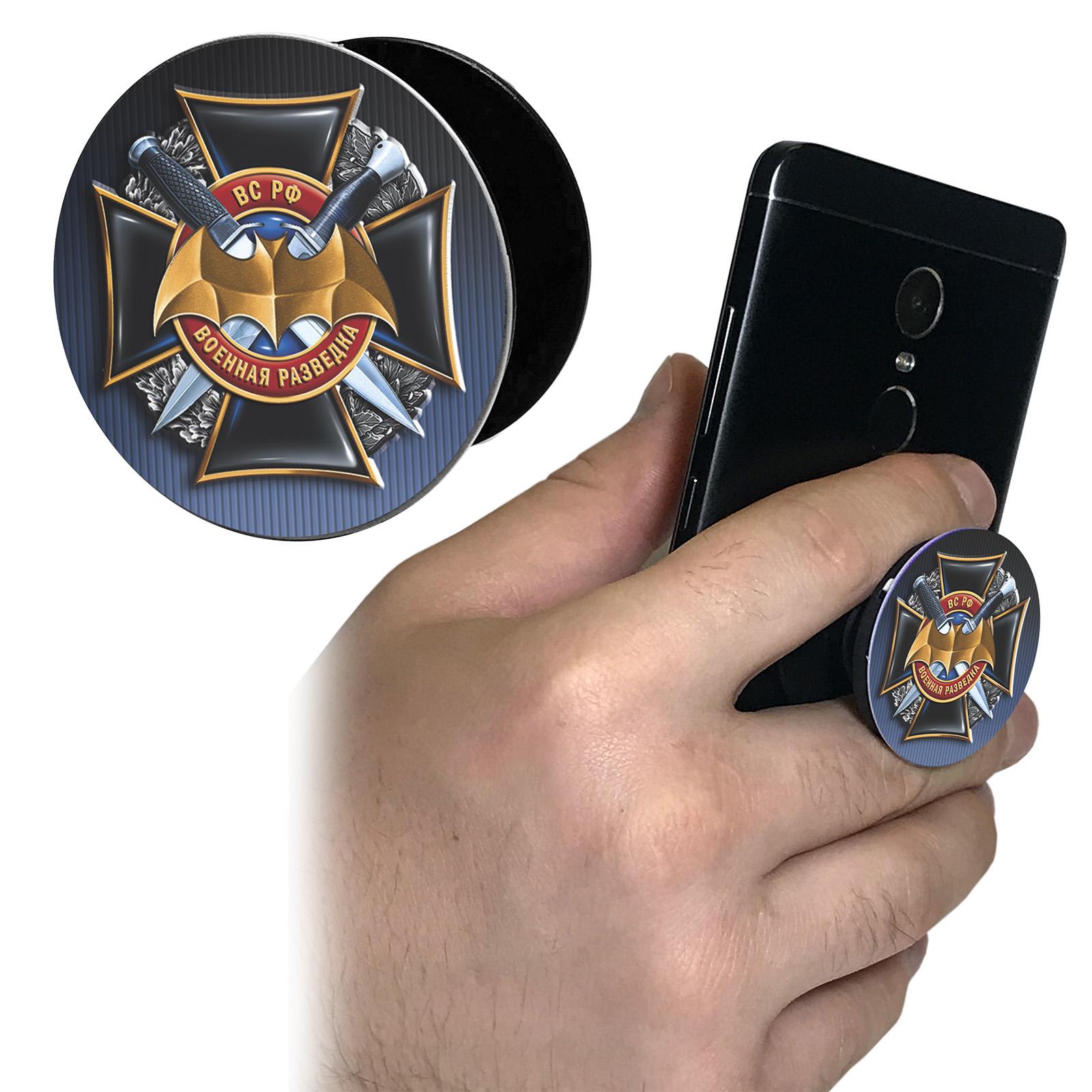 Тематический попсокет на телефон военного разведчика