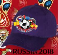 Темная фанатская бейсболка Russia 2018