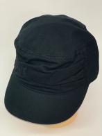 Темная кепка-немка лаконичного кроя