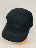 Темная кепка-немка с металлическими люверсами