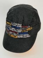 Темная кепка-немка с яркими надписями-принтами Colombia