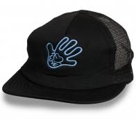 Темная кепка снэпбэк с прикольным лого