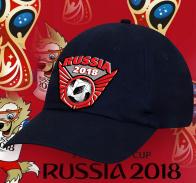 Темная оригинальная бейсболка Russia 2018