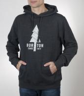 Темная толстовка Burton с лаконичным изображением. Топовая модель по доступной цене
