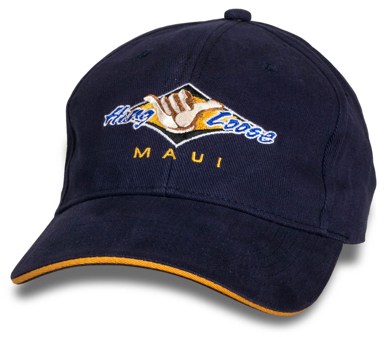 Темно-фиолетовая мужская кепка Hang Loose Maui.