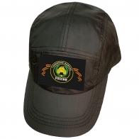 Тёмно-оливковая кепка с шевроном танковых войск