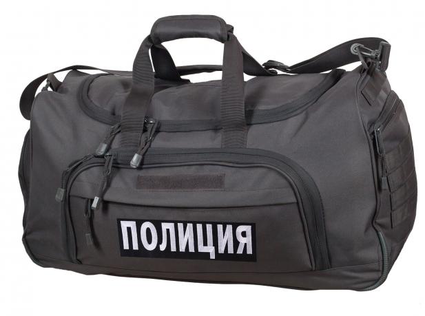 Темно-серая дорожная сумка 08032B Полиция