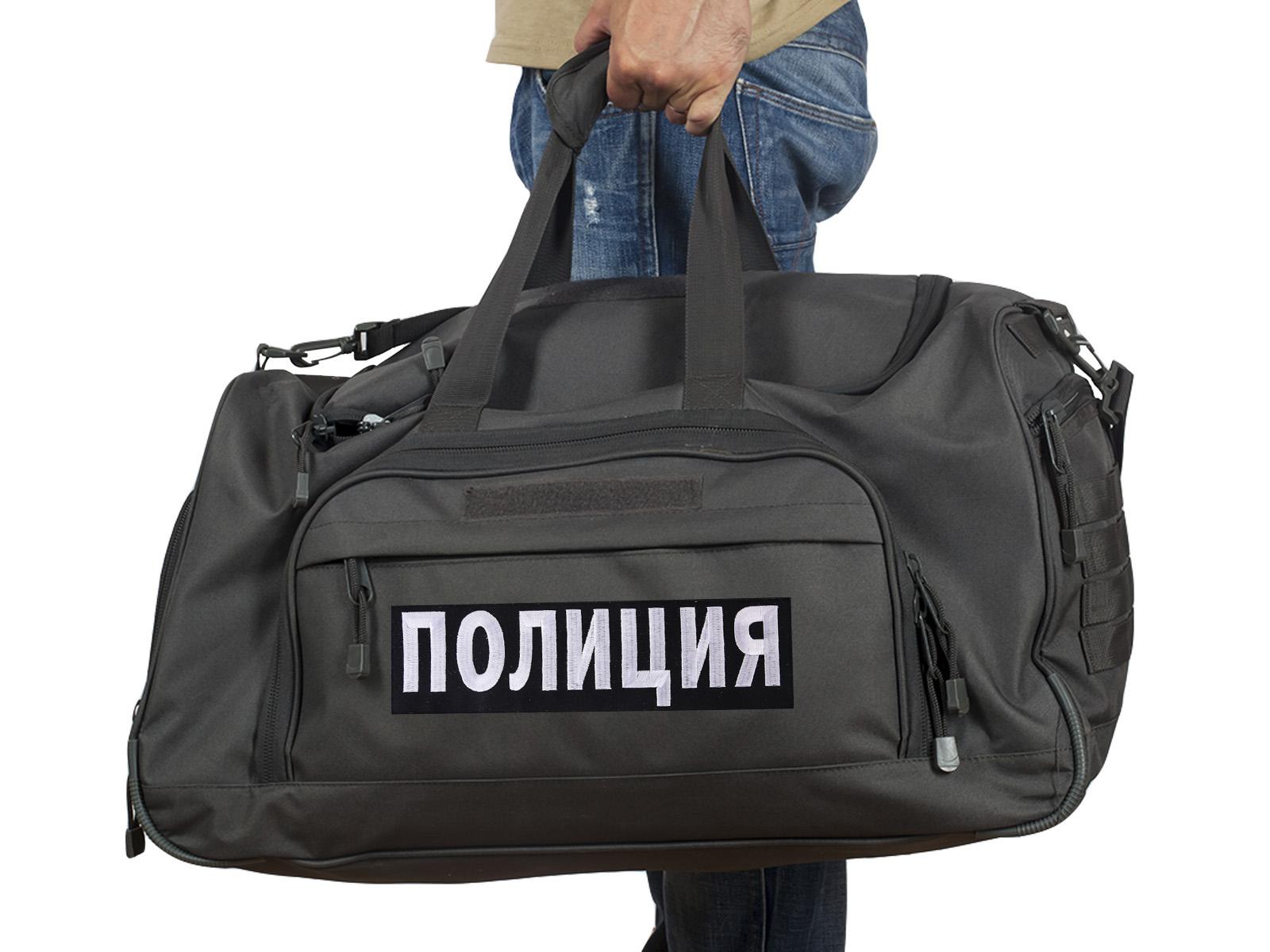 Купить темно-серую дорожную сумку 08032B Полиция с доставкой в ваш город