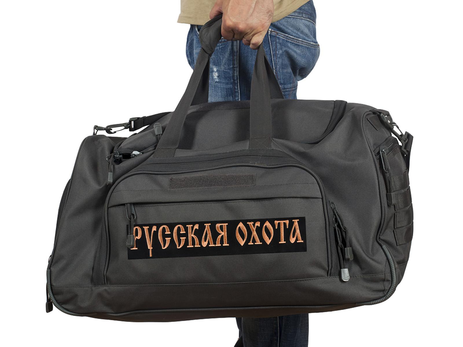 Купить темно-серую дорожную сумку 08032B Русская Охота с доставкой или самовывозом