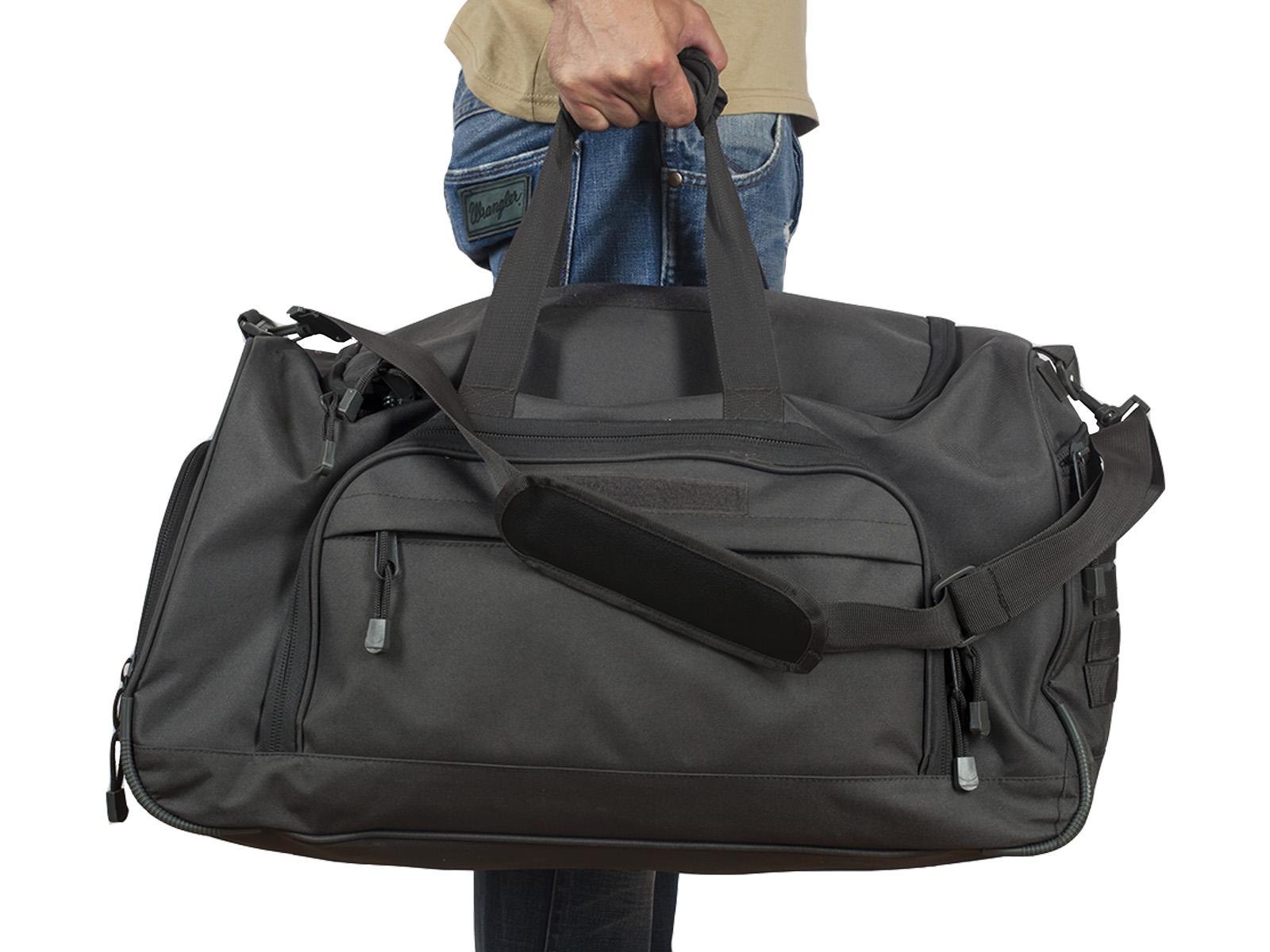 Темно-серая дорожная сумка армейского образца 08032B с доставкой