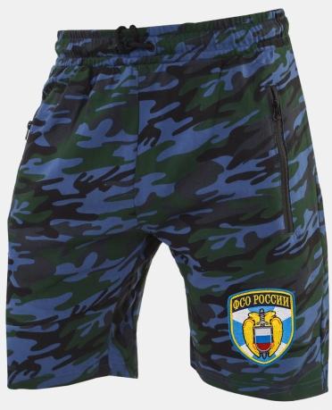 Темно-синие армейские шорты с нашивкой ФСО