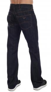 Оригинальные темно-синие мужские джинсы