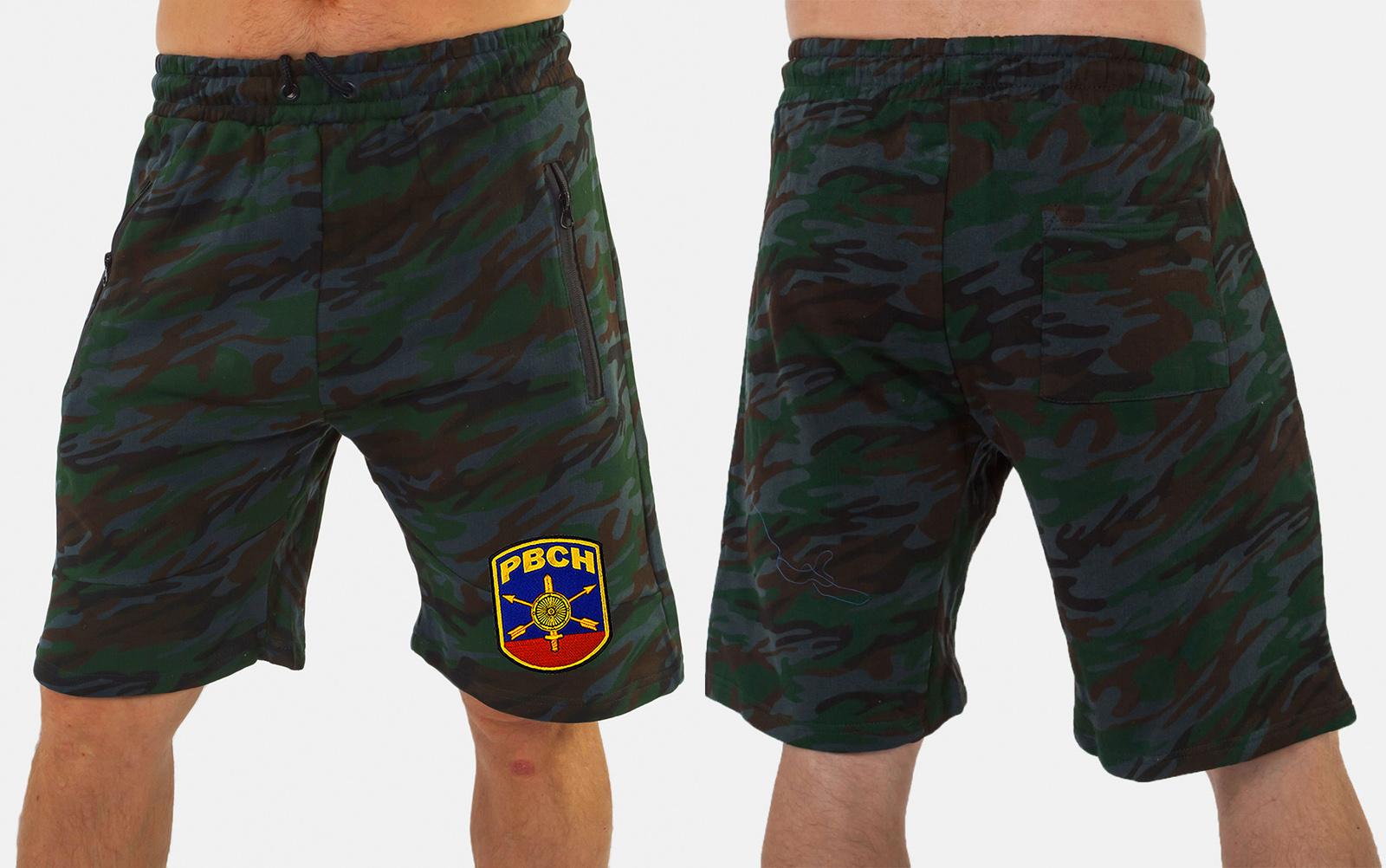 Темные камуфляжные шорты с нашивкой РВСН - купить в Военпро