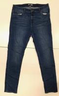 Темно-синие женские джинсы топового кроя